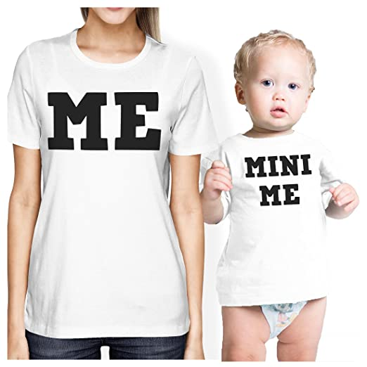 35b1b69f Mini Me Mom and Baby Matching Gift T-Shirts for New Mom X-Mas at Amazon  Women's Clothing store: