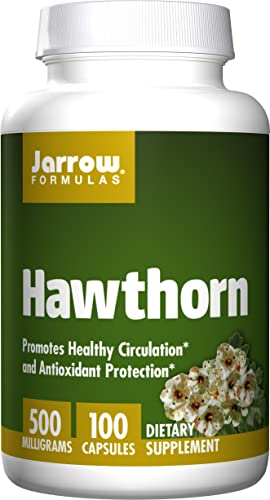 Jarrow Formulas Hawthorn, Promotes Healthy Circulation and Antioxidant Protection, 500mg, 100 Caps