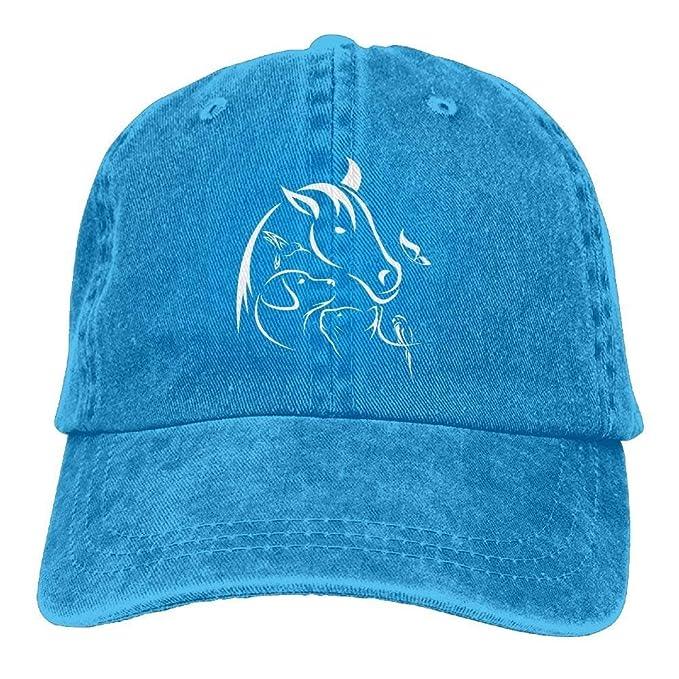Baseball Jeans Cap Horse Dog Cat Bird Butterfly Women Baseball Cap ... 0c77cc90ffa