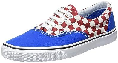 a8ac9ed8f5ac01 Vans U Era Blue Red Check Mens Canvas Skate Trainers Shoes-11 ...
