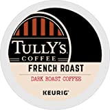 Tully's Coffee French Roast Keurig Single-Serve K-Cup Pods, Dark Roast Coffee, 72 Count (6 Boxes of 12 Pods) (Pack May Vary)