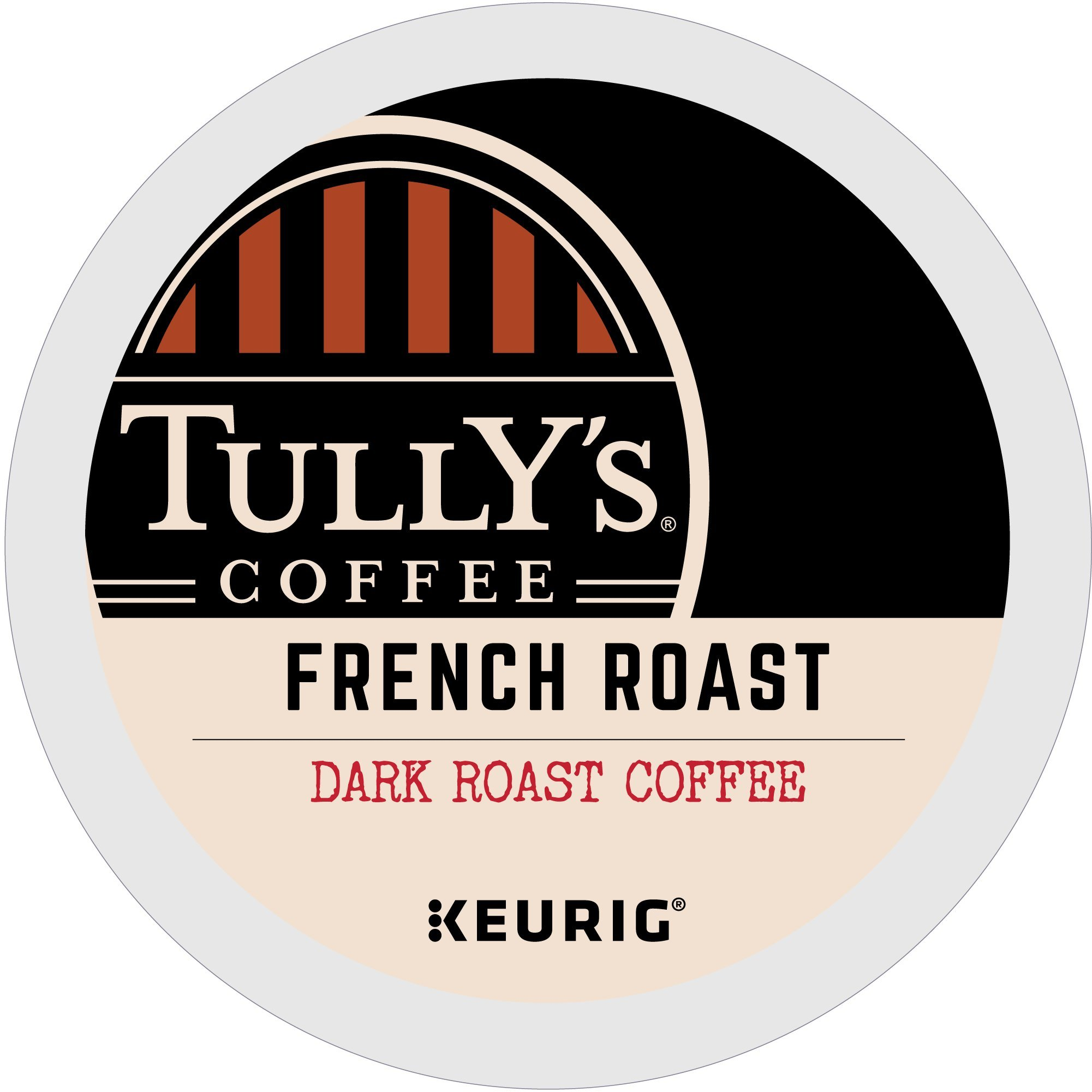Tully's Coffee French Roast Keurig Single-Serve K-Cup Pods, Dark Roast Coffee, 72 Count (6 Boxes of 12 Pods) ( Pack May Vary )