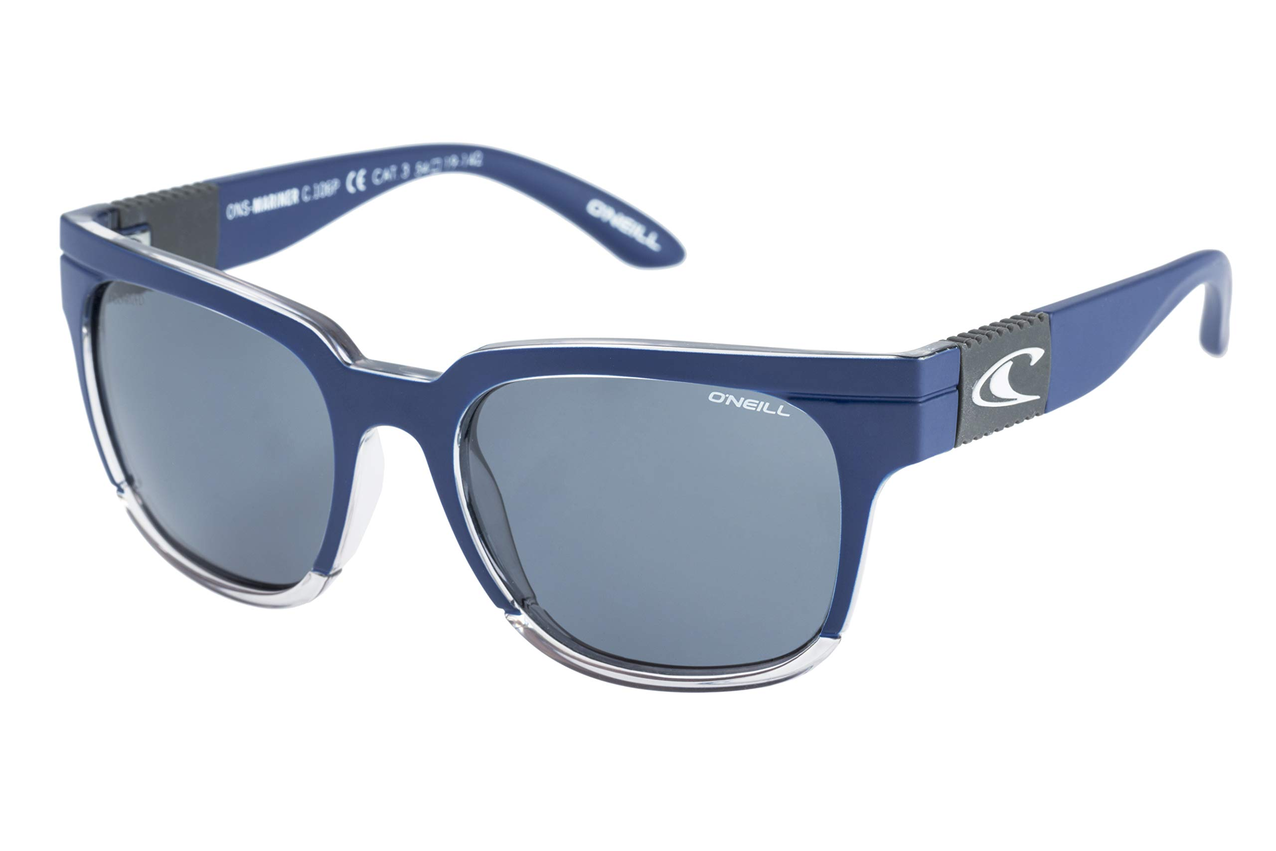 O'Neill Unisex-Adult Mariner 106P Polarized Square Sunglasses, Matte Navy/Gray, 54 mm by O'Neill