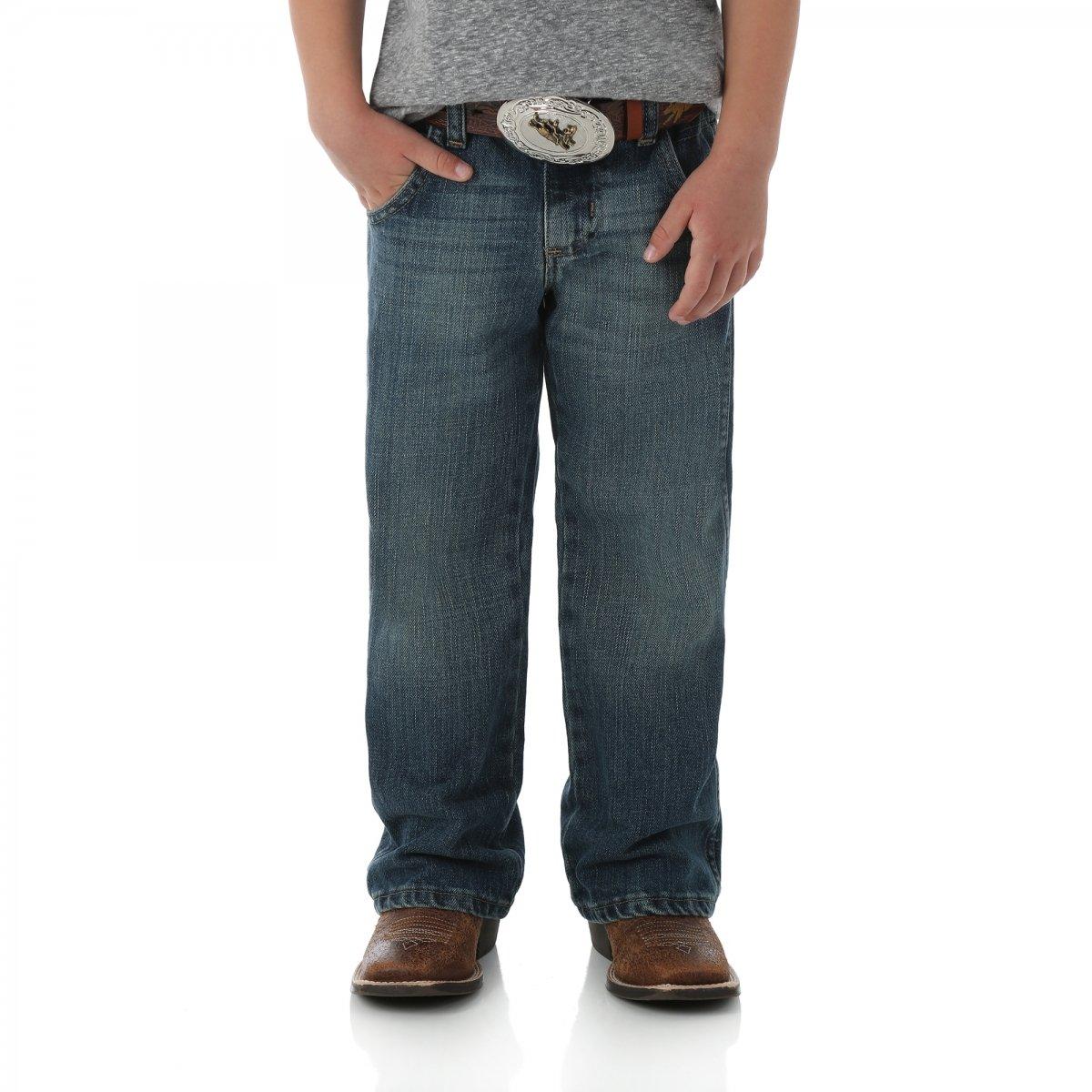 Wrangler Little Boys' Retro Relaxed Boot Jean, Rocky Trail, 14 Reg