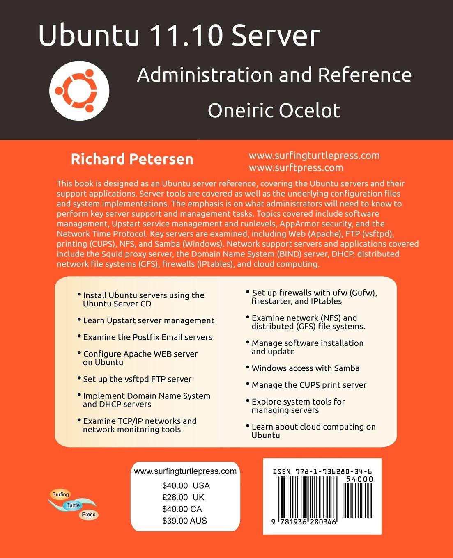 Amazon com: Ubuntu 11 10 Server: Administration and