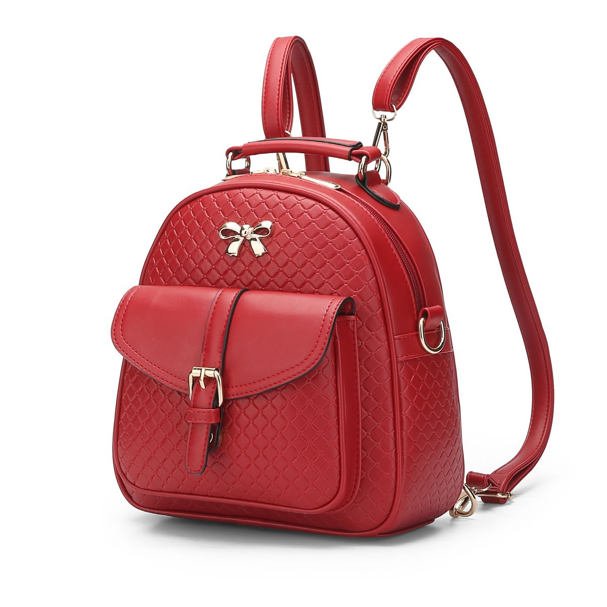 MSZYZ Women's shoulder bag spring and summer young girl's small backpack,gules,24.51026CM
