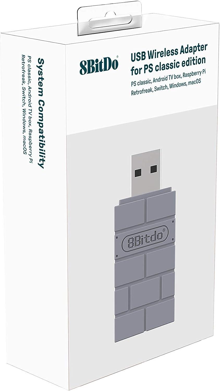 8Bitdo USB Wireless Adapter for PS Classic Edition/Windows/Mac/Raspberry Pi/ Switch [ ] [Importación alemana]: Amazon.es: Videojuegos