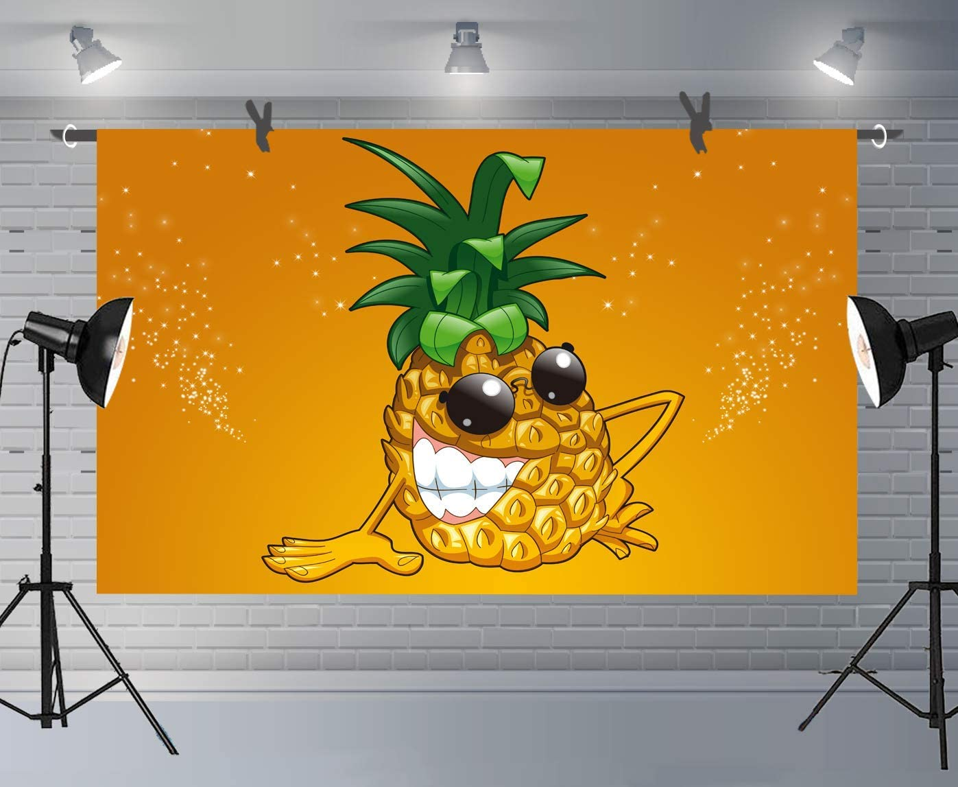 12x10ft Cartoon Pineapple Background Room Mural for Children Fun Party Photoshoot Backdrop Photography Booth Props LLFU102