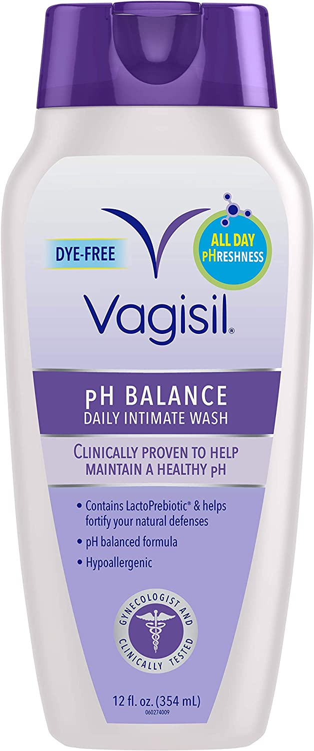 Vagisil pH Balanced Daily Intimate Feminine Wash for Women, Gynecologist Tested, Hypoallergenic, 12 Ounce: Health & Personal Care