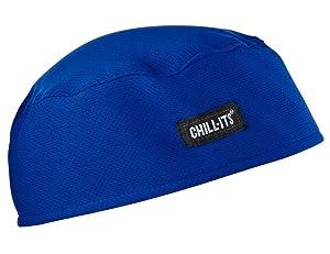 Ergodyne Chill-Its 6630 Absorptive Moisture-Wicking Skull Cap, Blue