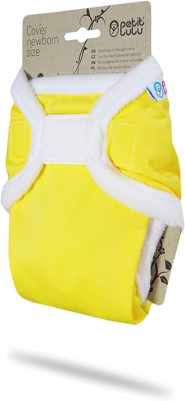Yellow Naissance Culotte de Protection Petit Lulu R/éutilisable /& Lavable Couches Lavables /Étanche Fabriqu/é en Europe Fermeture Auto-Agrippante