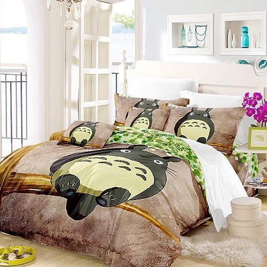 Copripiumino Totoro.Realin Cartoon Totoro Print Bedding Microfiber My Neighbor Totoro