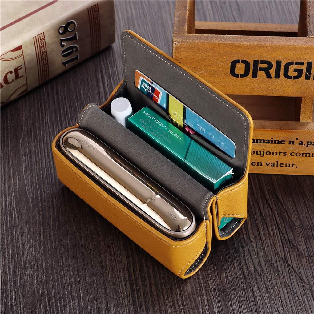 ACMEDE Custodia in Pelle PU per IQOS 3.0 Accessori per IQOS Sigaretta con Supporto per Schede e Copertura Magnetica