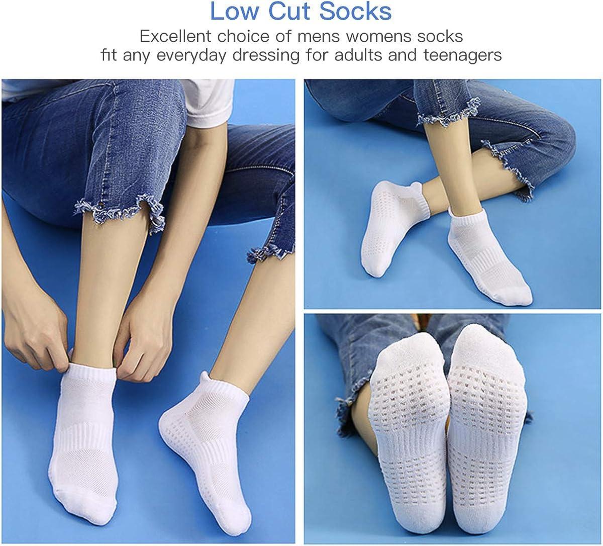 AUGOLA Running Socks Cushioned Sports Socks Cotton Ankle Socks Trainer Socks for Men Women Ladies Low Cut Athletic Socks