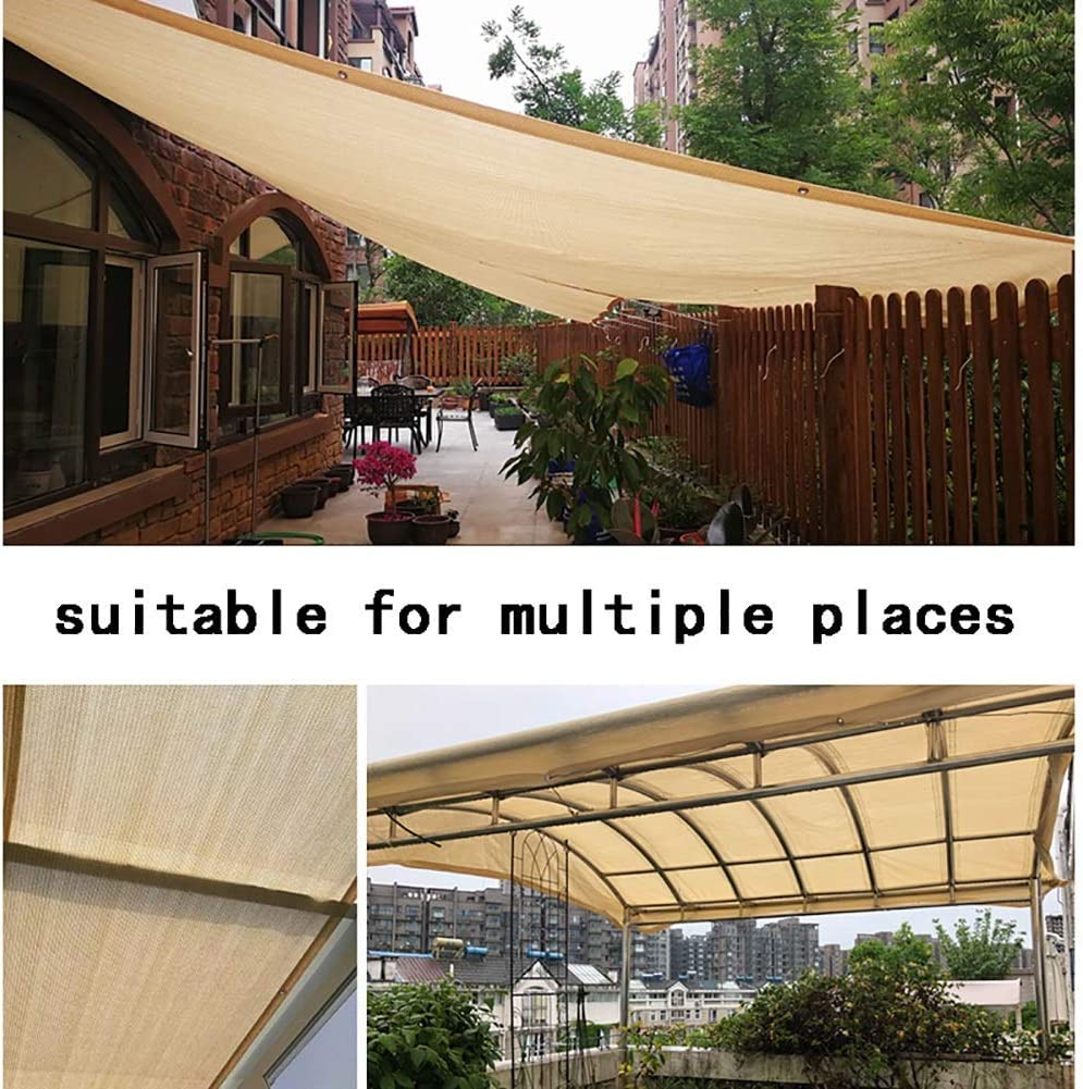 ZXL 85% Sombra Tejido Sun Shade Paño con Ojales Sun-Block Mesh Shade para Pergola Garden Outdoor Cover Canopy Personalizable (Color: Beige, Tamaño: 6X8M): Amazon.es: Jardín