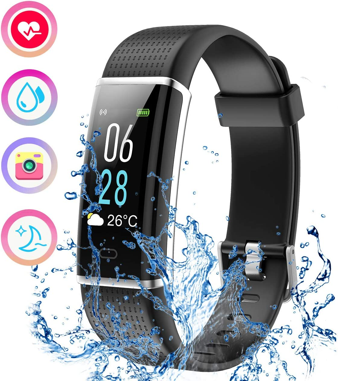 VeryFitPro- smart bracelet 130 plus color hr: Amazon.es: Electrónica