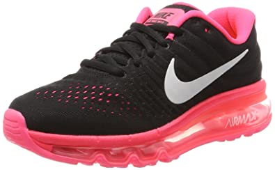 NIKE Air Max 2017 GS, Chaussures de Running garçon, Rose (Black/White