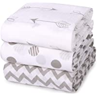 Muslin Baby Swaddle Blankets, Momcozy Large Unisex Neutral Receiving Swaddle Wrap for Baby, Soft Silky Bamboo Fiber, 47…