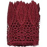 YNuth Nastro Pizzo Crochet Ricamo Foglie Hollow Lace Trim Ricamato Vintage DIY Craft Cucito Lace Edge Trim Ribbon 1 Yard