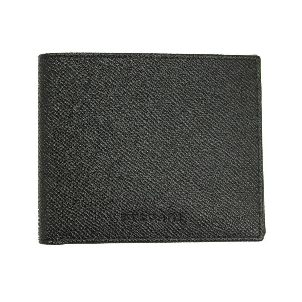 BVLGARI (ブルガリ) 二つ折り財布 札入れ メンズ ブラック グレインレザー 22309 [並行輸入品] B073XZ9K7P
