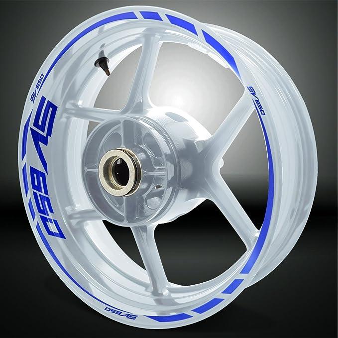 2 Tons Am/éthyste Jante de moto d/écalcomanies autocollant accessoire pour Suzuki GSR