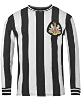 Score Draw Mens NUFC 70HLS Long Sleeved Striped Top Crew Neck