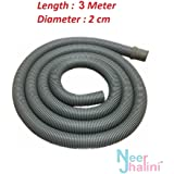 Neerjharini™️ 3 Meter Front Load Washing Machine Drain Pipe / Universal Flexible Plastic Waste Water Outlet / Drain Pipe / Extension Pipe / Discharge Pipe For Front Load Fully Automatic Washing Machine Suitable For All Brands ( LG, Samsung, Godrej, Videocon, Whirlpool, Onida, Bosch, IFB, Electrolux, Haier, Panasonic, Gem, Intex, Sansui, BPL and Other Major Brands )
