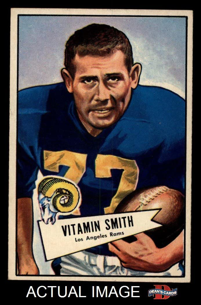 1952 Bowman Large # 73 Vitamin Smith Los Angeles Rams (Football Card) Dean's Cards 5 - EX Rams 71IhHeaBRmLSL1050_