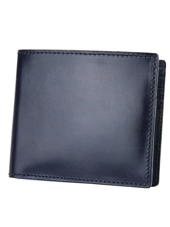 [コルボ] CORBO. -face Bridle Leatherフェイス ブライドルレザー シリーズ 二つ折り財布 1LD-0228 CO-1LD-0228 B0107M1JYGネイビー
