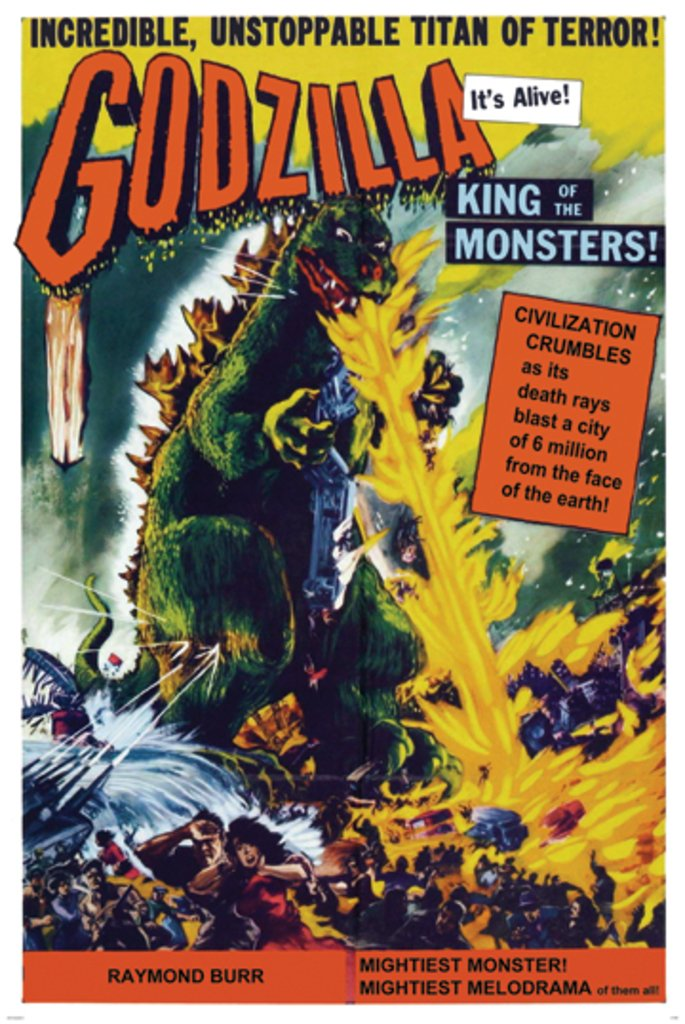Studio B Godzilla King of Monsters Movie Poster 24x36 inch