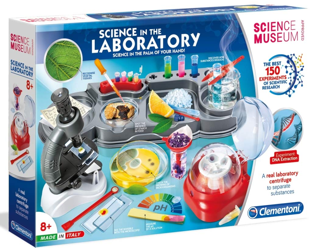 Clementoni Science in The Laboratory Kit | 150 Experiments for Kids | STEM Learning Lab
