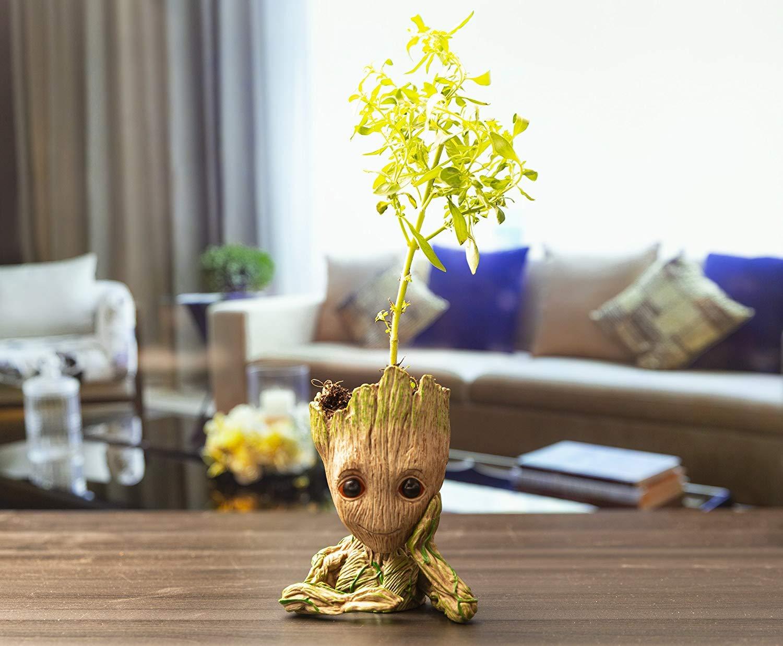 Hiveseen Pot De Fleur Groot Figurine Ou Pot A Stylos Bebe Groot