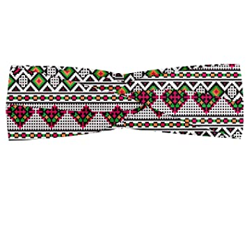Hair Wrap Ambesonne Retro Head Scarf Ukrainian Traditional Art