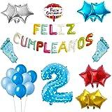 COTIGO - Globos Cumpleaños Happy Birthday #2 Color Azul, Año ...