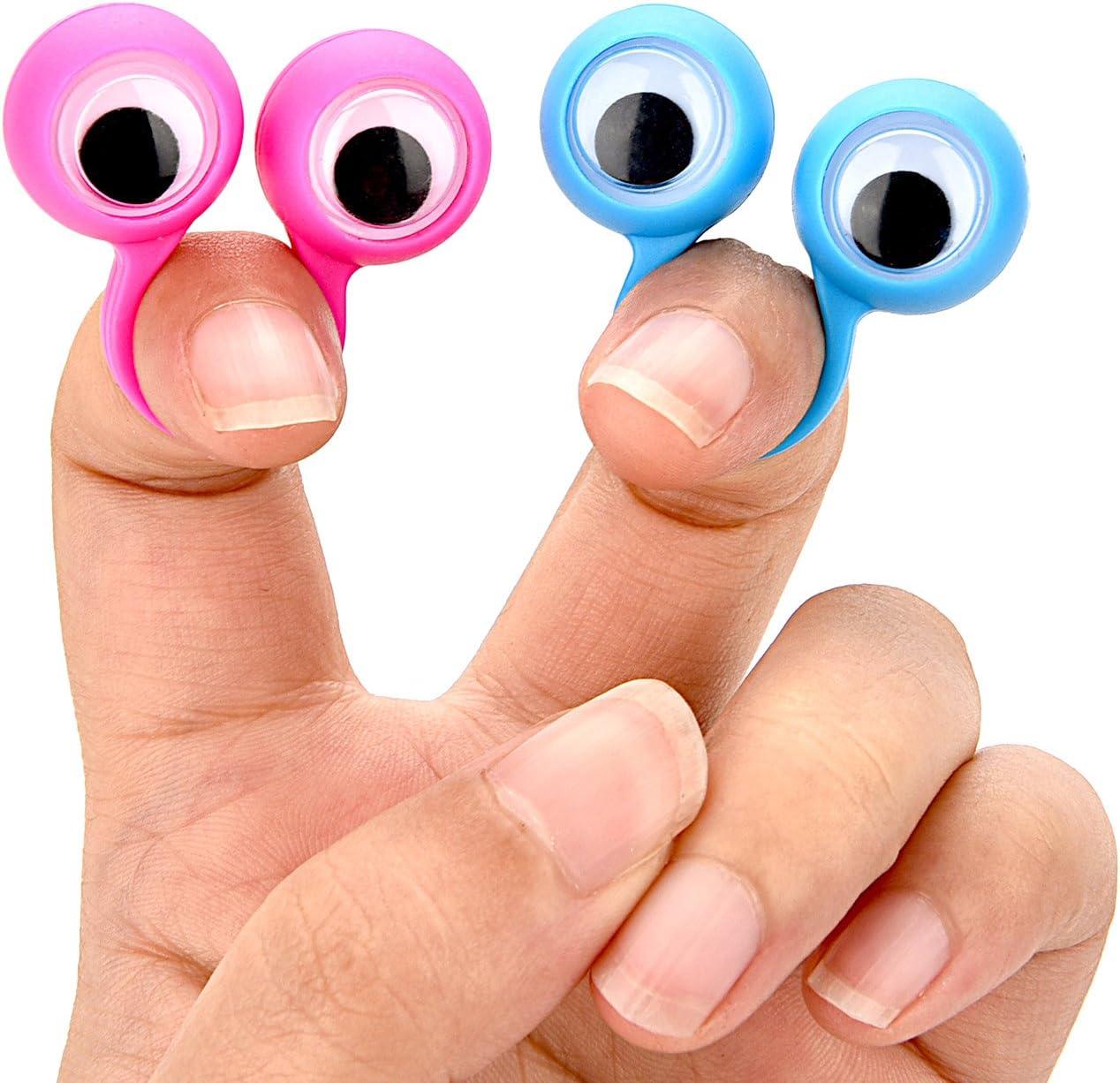 SUPVOX 20pcs Eyes Finger Ring Eyeball Finger Toy Googly Finger Puppets Party Favor Toys Random Color