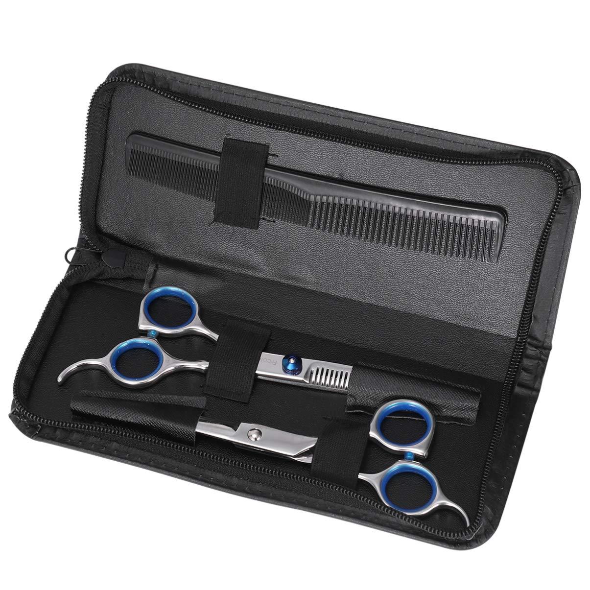 Hair Cutting Scissors Set, Professional Haircutting Scissors Barber Thinning Scissors Hairdressing Shears Set