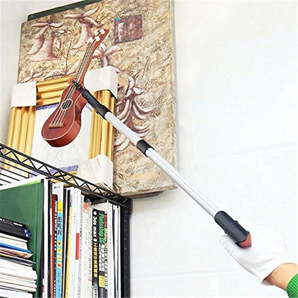 ideal para recoger art/ículos. pr/áctica herramienta de recogida color amarillo Lector giratorio de 81 cm de largo