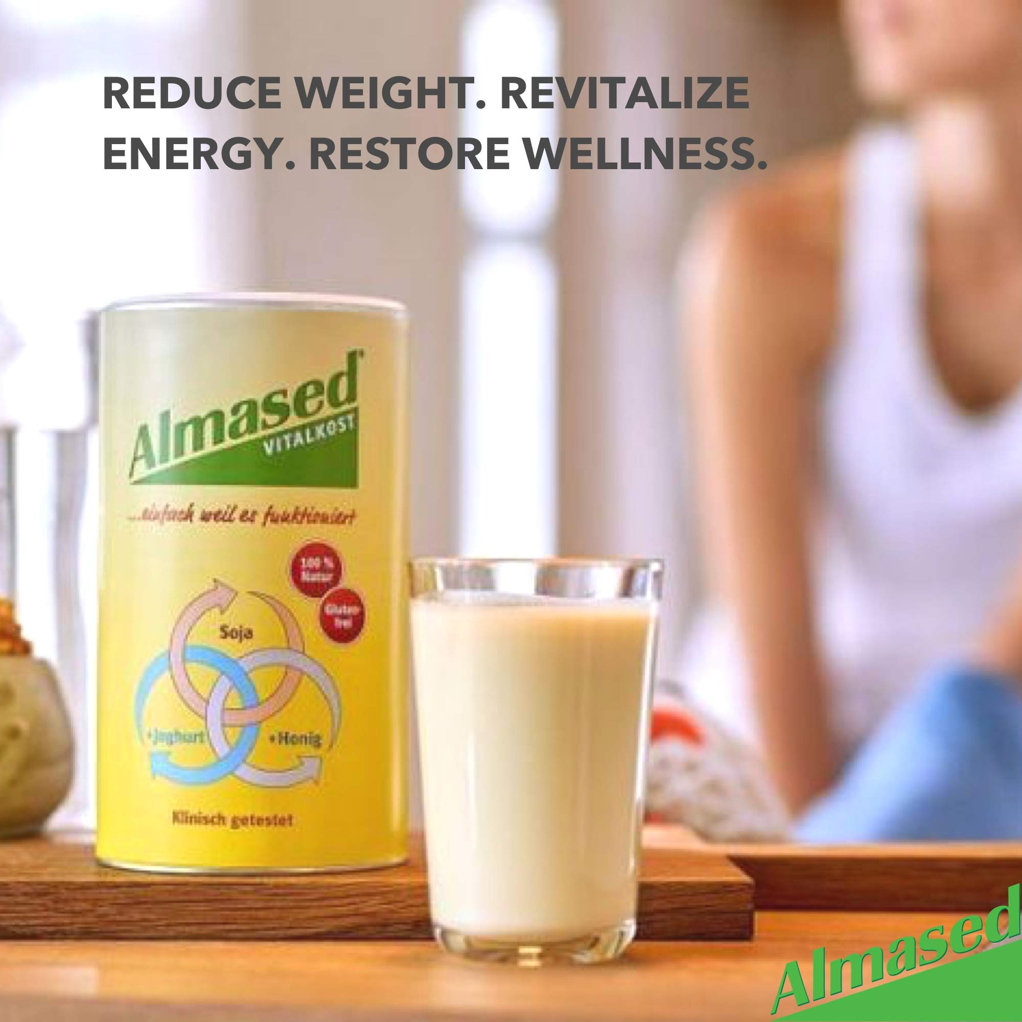 Almased Meal Replacement Shake (3 Pack) with Bonus Bamboo Spoon - 17.6 oz Powder - High Protein Weight Loss Drink, Fat Metabolism Booster - Vegetarian, Gluten Free - 30 Total Servings by Almased (Image #9)