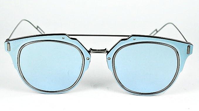Dior Homme Sonnenbrillen Für Mann Dior Composit 1.0 6LB/A4, Ruthenium / Light Blue Mirror Metallgestell