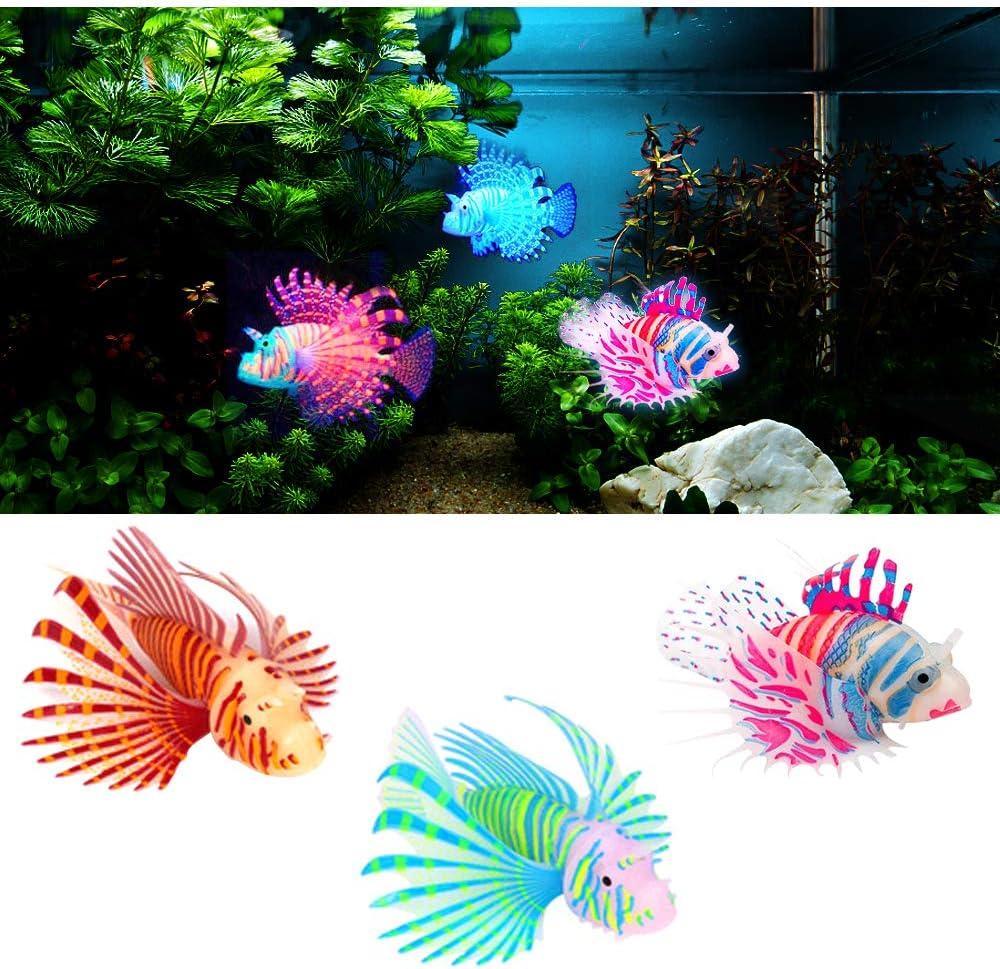MA Keleily Pesci Finti per Acquario 3Pzi Pesce Realistico Simulazione Pesci Silicone, Pesce Falso Luminoso, Spostamento di Pesci Galleggianti Ornamento per Decorazione di Acquari, Paesaggio Acquario