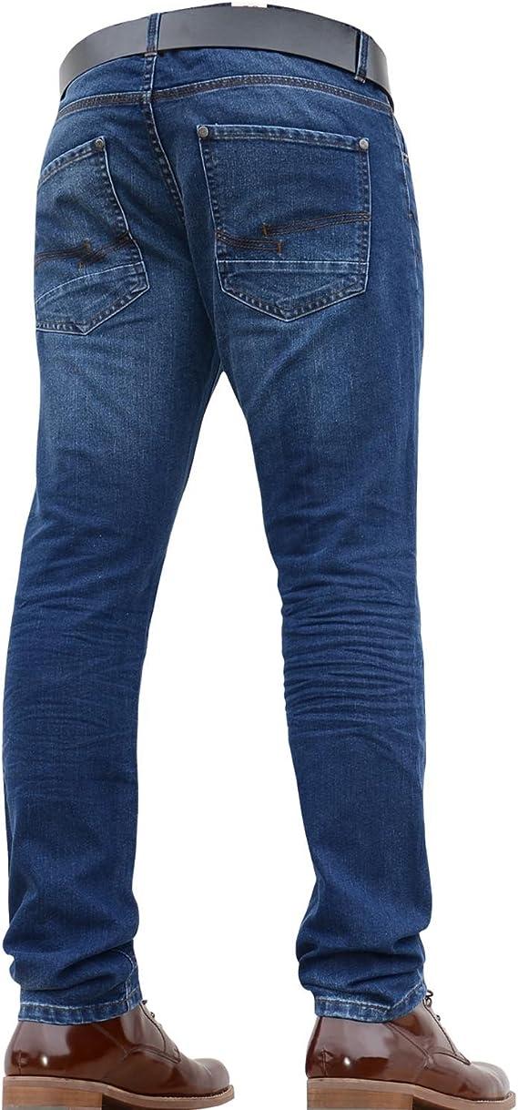 Homme Crosshatch Chino Jeans Coupe Slim Pantalon homme coupe droite effilé Pantalon