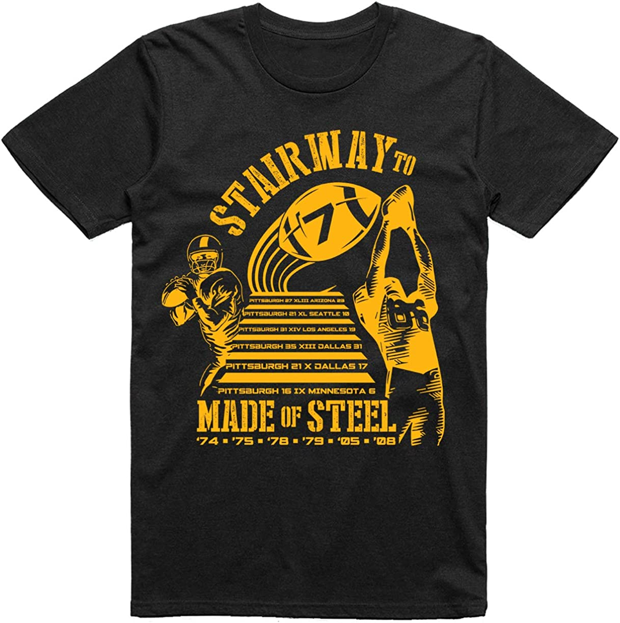 7 INKtastictees Pittsburgh Football Stairway to Seven Made of Steel Fans Classic T-Shirt