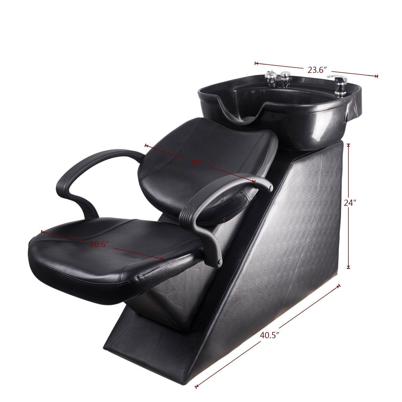 Amazon Walcut Backwash Shampoo Barber Chair Unit with Plastic