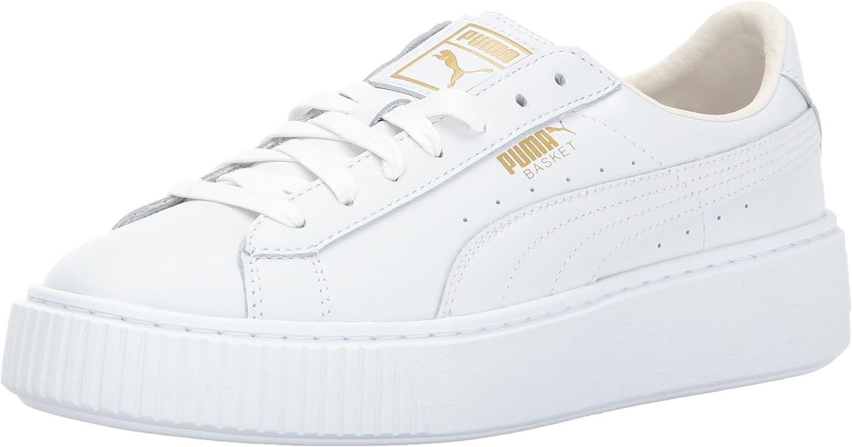 puma platform core white gold