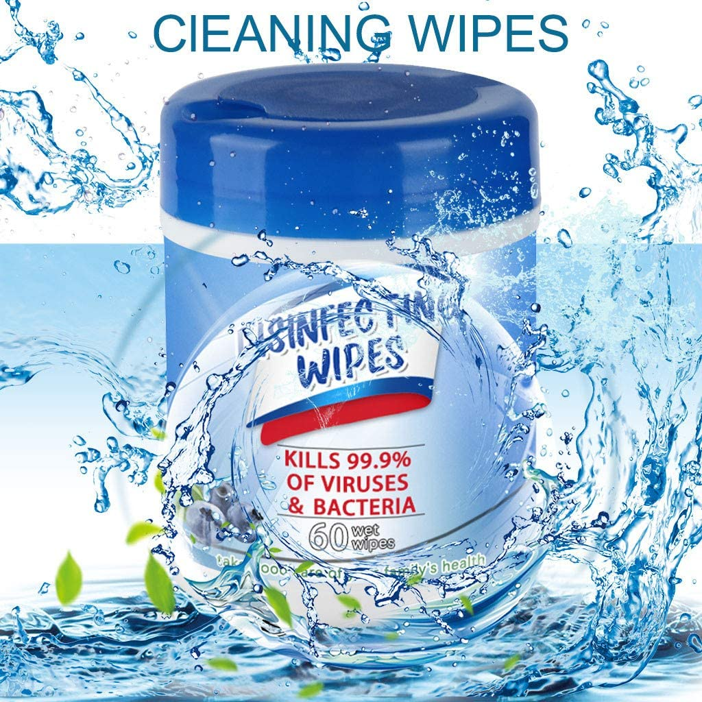 1//3//5//8 Bottles Bag Portable,2020 New Professional and Natural Skin-Friendly 75/% A1cohol Barrel Wet Wipes One Time Use Wet Wipes 60 Sheets per Bottle