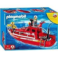 PLAYMOBIL 3128 - Barco de bomberos con bomba