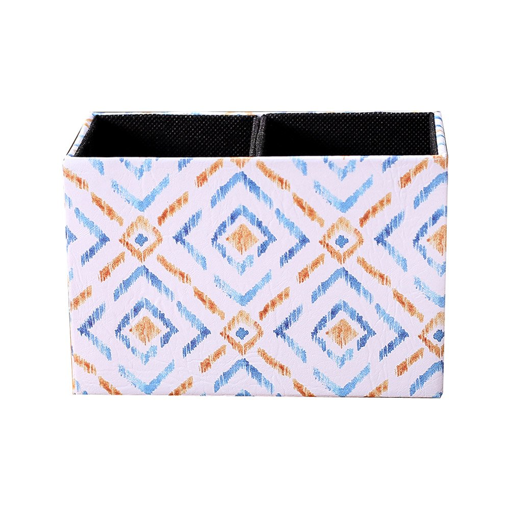 LINKWELL Colorful Ikat Pattern PU Leather Rectangular Pencil Pen Holder Desk Organizer PH28 by LINKWELL (Image #1)