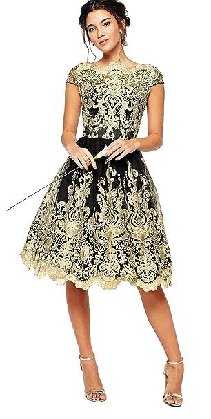 Amazon.com: Semir Vestido de mujer con encaje floral y ...