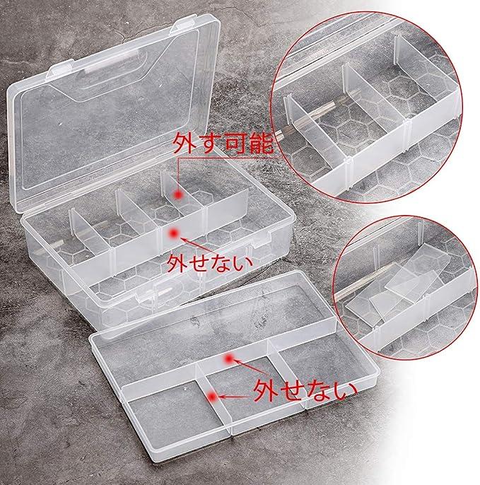 matite acquerello regolabile BSTKEY per arte e artigianato per ufficio per pennelli pittura Set di 4 contenitori trasparenti a doppio piano