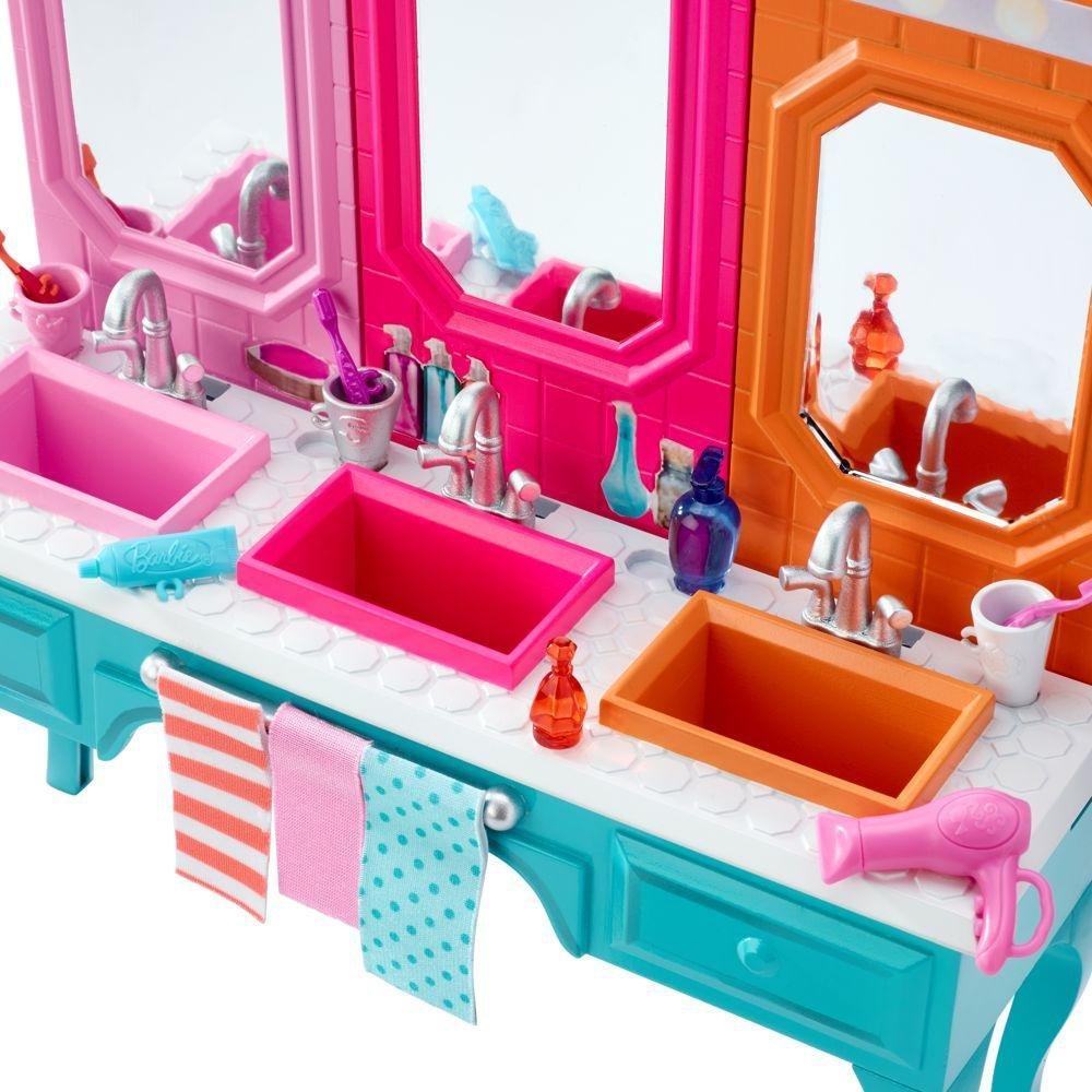 Amazon.es: Barbie - Muebles de Baño - Mesa de lavado con la Muñeca Skipper: Juguetes y juegos